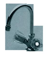 allpa Verchroomde 2-knops mengkraan met draaibare 12mm-uitloop  aansluiting 3/8