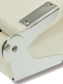 allpa Vervangings scharnierset (L+R) voor klapstoel model Coach  wit/donkerblauw