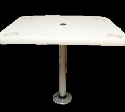 allpa Volkunststof tafelblad rechthoekig set (406x711mm) met poot (H=686mm) en voet