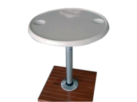 allpa Volkunststof tafelblad rond set (Ø610mm) met poot (H=686mm) en voet