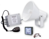 allpa Waterdichte (IP67) luidsprekerinstallatie 24V met RVS steun  met keur