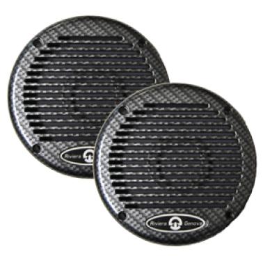 allpa Waterdichte Luidsprekerset  200W  Ø165mm  zwart (set van 2)