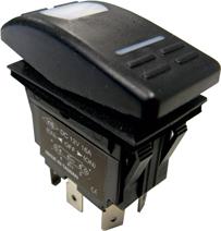 allpa Waterdichte schakelaar met LED-indicator  4-polig  ON-OFF  15A / 12V  inclusief 25 labels