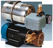 allpa Waterdruksysteem INOX 66B  24V / 185W  12l/min (bij 0 7bar)  RVS tank 2l
