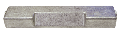 allpa Aluminium Anode boutmontage gatsafstand = 140mm (1 40kg)