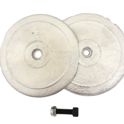 allpa Zinken ronde roerblad-anode dubbel Ø70mm