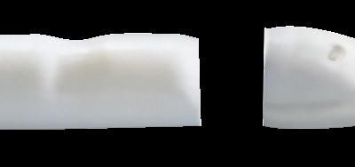 allpa plastic-eindstuk voor stootlijst Radial 40 lichtgrijs