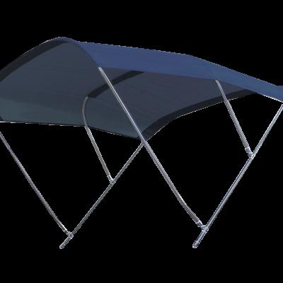 allpa zonnetent model Biminox  230x235x145cm  navy; RVS-Beugels