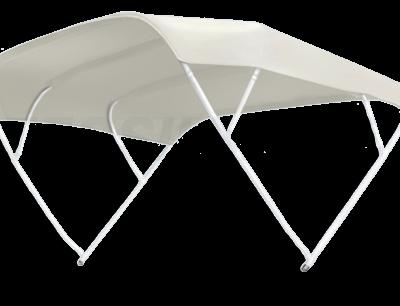 allpa zonnetent model Sixty  wit  230x255x140cm; aluminium beugels